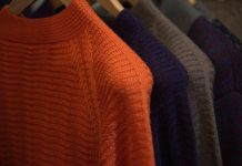 Mens sweaters and fabrics